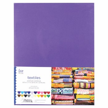 "8.5x11"" Cardstock Pack, 100ct- Textiles"