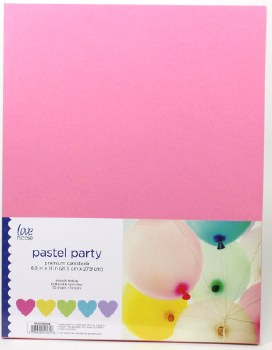 """8.5x11"""" Cardstock Pack, 50pc- Pastel Party"""