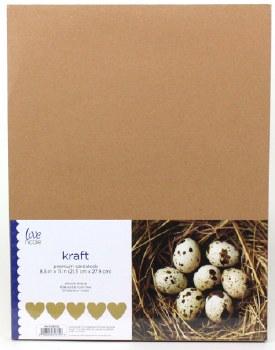 "8.5x11"" Cardstock Pack, 50pc- Kraft"
