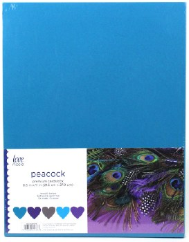 """8.5x11"""" Cardstock Pack, 50pc- Peacock"""