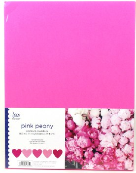 "8.5x11"" Cardstock Pack, 50pc- Pink Peony"