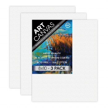 """8""""x10"""" Artist Stretched Canvas - Triple Pack"""