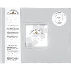 Doodlebug 8x8 Storybook 2-Ring Album- Gray