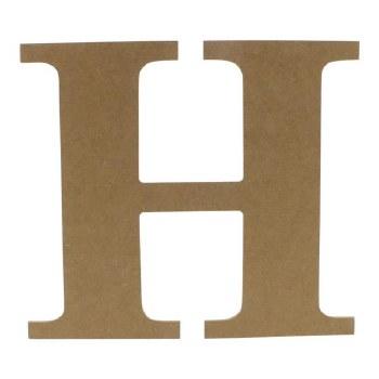 """9.5"""" MDF Letter- H"""