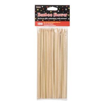 """9"""" Wood Bamboo Skewer Sticks 100pc."""