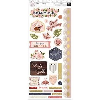 Again & Again Stickers- Cardstock Elements