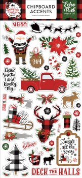 A Lumberjack Christmas Chipboard Accents