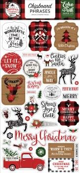 A Lumberjack Christmas Chipboard Phrases