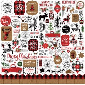 A Lumberjack Christmas Sticker Sheet
