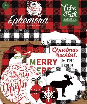 A Lumberjack Christmas Die Cuts- Ephemera