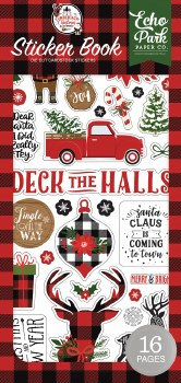 A Lumberjack Christmas Sticker Book