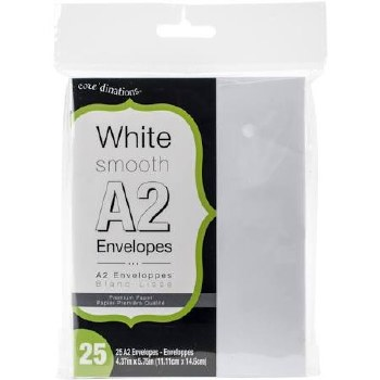 Core'dinations A2 Envelope Pack, 25ct- White