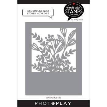 Say It in Stamps A2 Coverplate Metal Die- Wildflowers