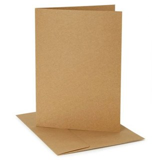 Core'dinations A7 Cards & Envelopes Pack, 12ct- Kraft