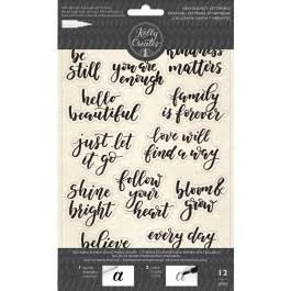 Kelly Creates Traceable Cling Stamps- Inspirational Phrases