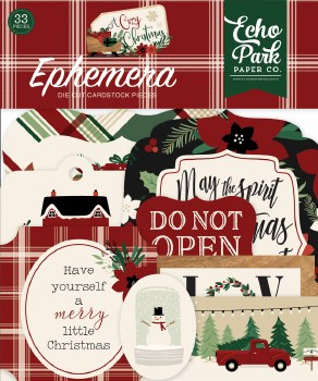 A Cozy Christmas Ephemera Die Cuts