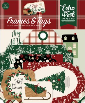 A Cozy Christmas Ephemera Die Cuts- Frames & Tags