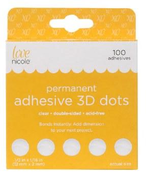 """Adhesive 3D Dots 100ct- 1/2"""""""