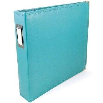 We R Memory Keepers 12x12 Classic Leather 3-Ring Album- Aqua