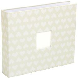 American Crafts 12x12 D-Ring Cloth Album- Cut & Paste Hearts