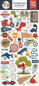 All Boy Chipboard- Accents