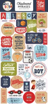 All Boy Chipboard- Phrases