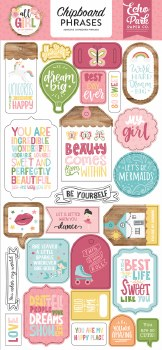 All Girl Chipboard- Phrases