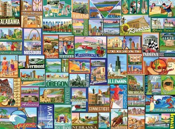 America - 1000 piece puzzle