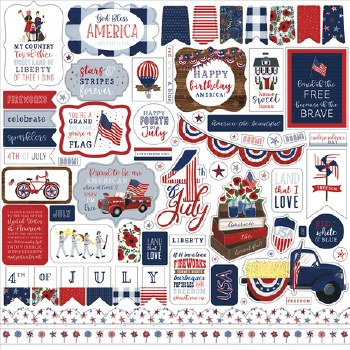 America the Beautiful 12x12 Sticker Sheet