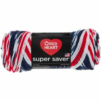 Red Heart Super Saver Yarn, Mulit-Color- Americana