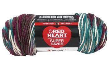 Red Heart Super Saver Yarn, Mulit-Color- Antique