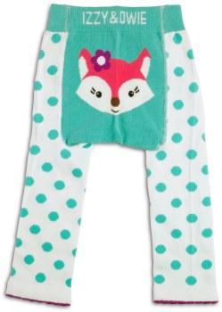 Baby Leggings, Fox Aqua- 12-24m