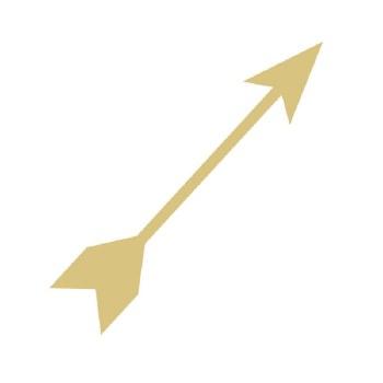 """Arrow #5 MDF Cut Out- 12"""""""
