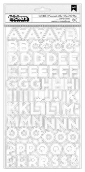 Art Walk Stickers- White Chipboard Alphabet Thickers