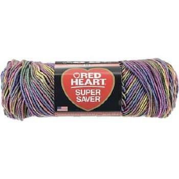 Red Heart Super Saver Yarn, Mulit-Color- Artist Print