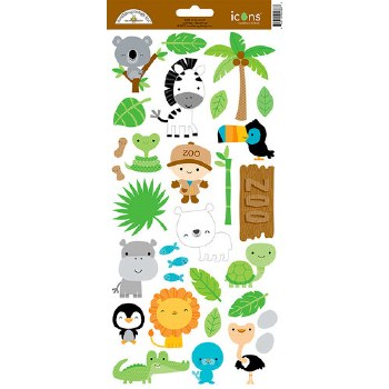 At The Zoo Stickers- Icons 2