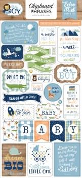 Baby Boy Chipboard Phrases