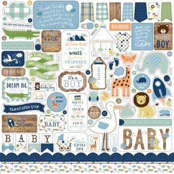 Baby Boy Stickers- 12x12 Sheet