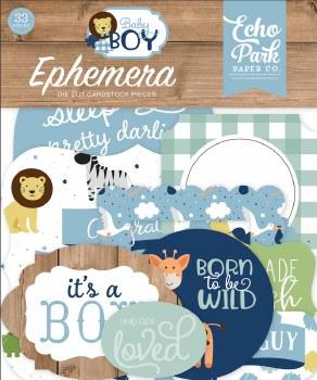 Baby Boy Ephemera Die Cuts