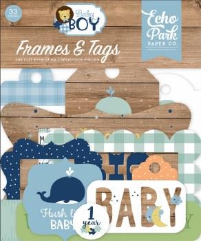 Baby Boy Ephemera Die Cuts- Frames & Tags