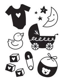 Darice Embossing Folder- Baby Icons