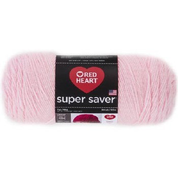 Red Heart Super Saver Yarn- Baby Pink