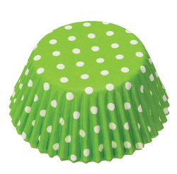 Baking Cups, 75ct- Polka Dot Lime Green