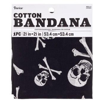 """Cotton Bandana 21""""x21""""- Skulls"""