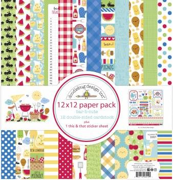Bar-B-Cute 12x12 Paper Pack