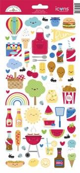Bar-B-Cute Stickers - Icons