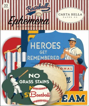 Baseball Ephemera Die Cuts