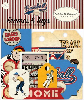 Baseball Ephemera Die Cuts- Frames & Tags