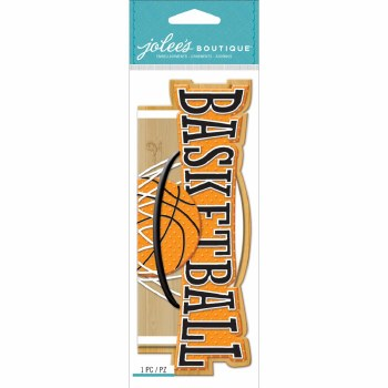 Jolee's Basketball Dimensional Title Stickers- Basketball