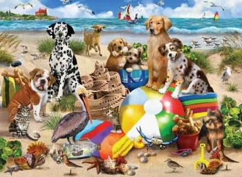Beach Buddies- 550 Piece Puzzle